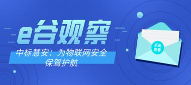 【e谷观察】中标慧安:为物联网安全保驾护航
